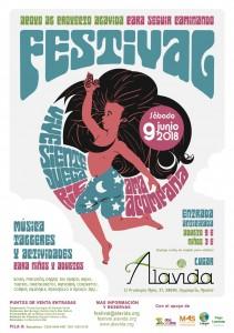 Cartel - Festival Cultural- ALAVIDA -9 junio
