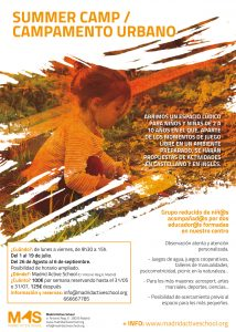 Campamento de verano / Summer Camp @ Madrid Active School
