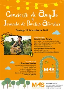 Concierto AmyJo & Puertas Abiertas 27 de Octubre de 2019 @ Madrid Active School